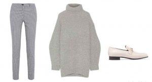 suéter grande, outfit para invierno