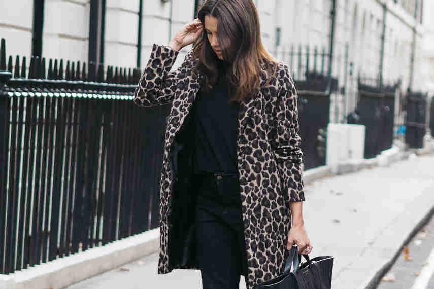 estampado de leopardo, abrigo de leopardo