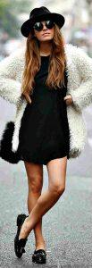 abrigos de peluche, little black dress