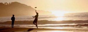 actividades vacaciones, frisbee