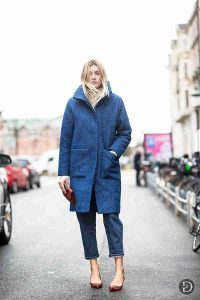 azul, outfits invierno