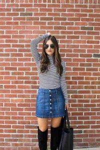 minifalda, falda jeans