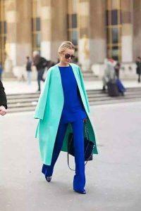 outfits monocromático, outfit azul