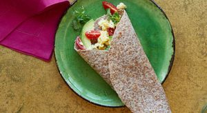 tiempo para desayunar, wrap vegetales