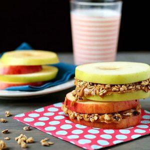 tiempo para desayunar, manzana granola