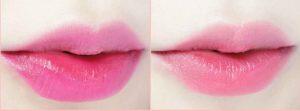 bolsa de maquillaje, tintas para labios