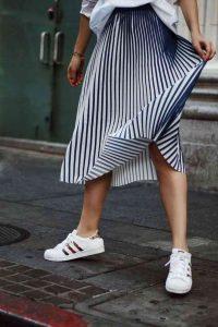rayas, falda de rayas